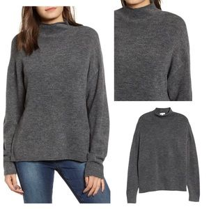 Leith Cozy Mock Neck Sweater, Size S